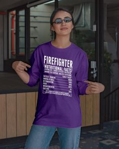 Firefighter Nutritional Facts - Purple my firefighter, diy fireman gifts, firefighter birthday party #fireservice #blanket #bunkergearblanket, dried orange slices, yule decorations, scandinavian christmas Homemade Birthday Gifts, Homemade Fathers Day Gifts, Cute Birthday Gift, Birthday Gifts For Teens, Diy Father's Day Gifts, Firefighter Birthday, Firefighter Quotes, Easy Fathers Day Craft, Nurse Mugs