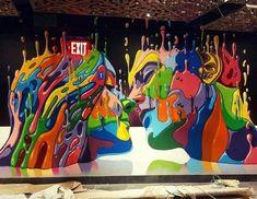 57 Ideas For Amazing Street Art Graffiti Eyes Street Wall Art, Street Art Banksy, Banksy Art, Art Fauvisme, Amazing Street Art, Awesome Art, Mural Art, Chalk Art, Street Artists