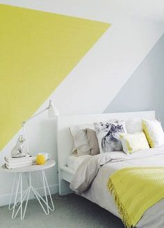 """Résultat de recherche d'images pour """"peinture murale diagonale"""""""