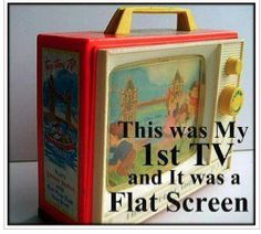 My first flat screen t.v.!