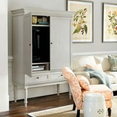 Marais Media Armoire- Ballard Designs--should easily be able to thrift a piece like this!