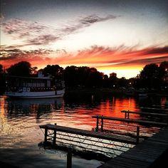 """The Judge"" at sunset, Skaneateles Lake"