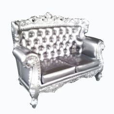 Lounge  Loveseat Silver Chair