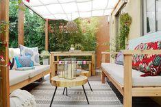 Rustic boho terrace decor
