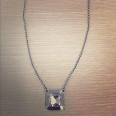 Lia Sophia Silver Pendent Necklace NWT simple silver pendent necklace. 19 inch long chain with adjustable clasp. Lia Sophia Jewelry Necklaces