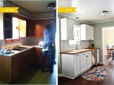 before and after! kitchen facelift small kitchen remodel