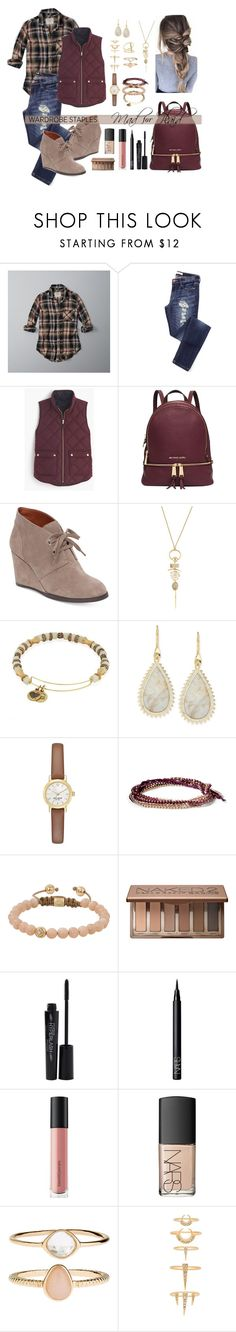 """""""Mad for Plaid🍂"""" by katymccord77 ❤ liked on Polyvore featuring Abercrombie & Fitch, J.Crew, Michael Kors, Lucky Brand, Alexis Bittar, Alex and Ani, Eddie Borgo, Kate Spade, Chloe + Isabel and Shamballa Jewels"""