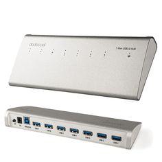 Dodocool 7-портовый usb 3.0 концентратор быстрое зарядное устройство зарядное устройство для iphone 7 ipad imac macbook superspeed 5 гбит внешний адаптер переменного тока