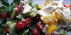 Gebackener Feta auf Paprika-Gemüse