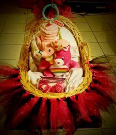 Care bear baby bassinet gift basket