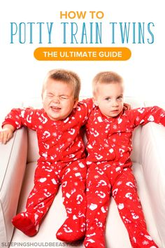 Learn how to potty train twins, from when to start, how to prepare, and what to do when one twin isn't ready. Get the tips to potty training twins!
