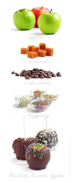Chocolate Caramel Apples Recipe | http://shewearsmanyhats.com/chocolate-caramel-apples/