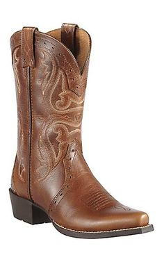 286e78280e20c Ariat Heritage Youth Vintage Cedar Snip Toe Western Boots