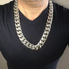 Huge 25mm Wide Cuban Link Mens Necklace Chain... custom Made for a customer in Malta