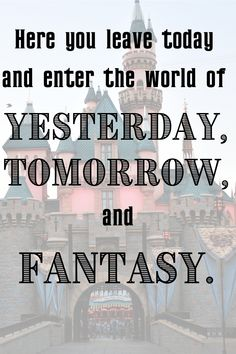 Walt Disney World quotes - there are so many great and iconic lines and quotable moments from the Disney theme parks... visit this post to see a whole bunch of them! What's your favorite? Disney in your Day #disneyquotes #disneyworld #disneyworldquotes #waltdisneyworldquotes #disneyland #disneylandquotes #waltdisney