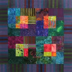 Made of leftovers from my Luminaria quilt, stripes by Michael James (love, love those stripes!). www.christinebarnes.com