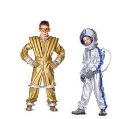Für kleine Astronauten: Faschingskostüm selber nähen mit dem Schnittmuster Astronaut Overall / Weste / Backpack, Burda 2379