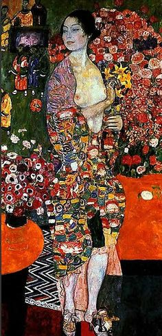 Klimt, Gustave (1862-1918) - 1916c.The Dancer, for more please visit http://www.painting-in-oil.com/artworks-Klimt-Gustave-page-1-delta-ALL.html