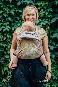 WRAP-TAI CARRIER MINI WITH HOOD/ JACQUARD TWILL / 60% COTTON, 20% MERINO WOOL, 12% SILK, 8% HEMP / FOREST BUBO OWLS