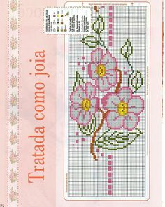 Small Cross Stitch, Cross Stitch Rose, Cross Stitch Flowers, Cross Stitch Charts, Cross Stitch Designs, Cross Stitch Patterns, Cross Stitching, Cross Stitch Embroidery, Crochet Baby