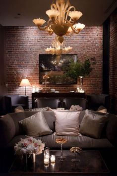 36 Luxury Rustic Living Room Design Ideas With Chandeliers