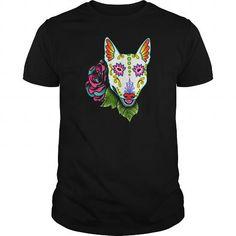 Bull Terrier   Day of the Dead Sugar Skull Dog