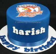 Sydney Roosters Birthday Cake Adult Birthday Cakes, Birthday Ideas, Decorated Cakes, Roosters, Vivienne, Sydney, Cake Decorating, Daughter, Comic