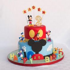 New Mickey Mouse Fondant Cakes