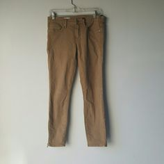 GAP 1969 Always Skinny Ankle Zipper Jeans 28 NWT These are awesome Khaki colored jeans. They will be great year round. Tag is frayed but still attached. Gap Jeans Ankle & Cropped