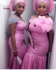 Gorgeous Aso Ebi Styles that will Wow You Lace Dress Styles, African Lace Dresses, African Dresses For Women, African Fashion Dresses, African Women, African Clothes, African Beauty, African Outfits, Ankara Fashion