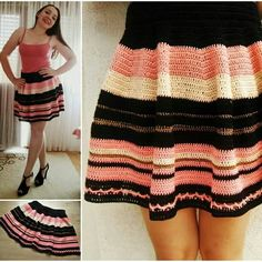 Newest listing in my shop, and probably the most popular. Crochet skater skirt pattern :)