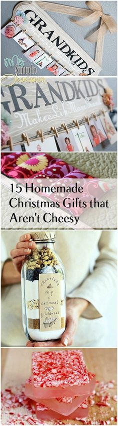 Homemade Christmas Gifts and Ideas that are thoughtful, inexpensive and easy!