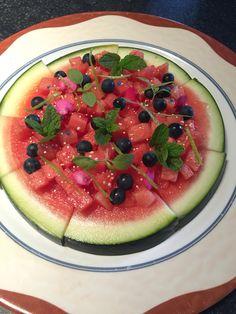 Nu zullen ze de watermeloen wel opeten... Watermeloenpizza