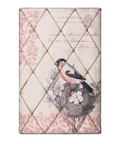 Vintage Card Bird's Nest Memo Board