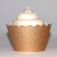 Platinum Glitter Gold Reusable Cupcake Wrappers