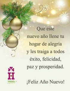 Felicidades - Random Up Happy New Year Greetings, New Year Wishes, Happy New Year 2019, Christmas Quotes, Christmas Wishes, Christmas Time, Christmas Status, Merry Christmas, Holiday Cards