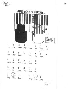 Miss Jacobson's Music: EASY KEYBOARD #1: MELODY SONGS BY FRAME and FINGER NUMBER #1