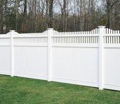 vinyl fences with huntington accent