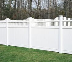 white plastic privacy fence but wood instead