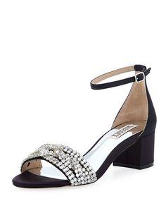 Triana Low Chunky-Heel Sandal
