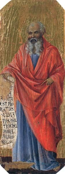 """Jeremiah meaning """"Yah Exalts"""", also called the """"Weeping prophet"""" was one of the major prophets of the Hebrew Bible. Jeremiah is traditionally credited with authoring the Book of Jeremiah, Jeremiah 31, Duccio Di Buoninsegna, Bible Images, Bible Pictures, Hebrew Bible, Bible Teachings, Renaissance Artists, Madonna And Child, Saints"""