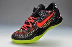 "New Nike Trainers Nike Air Kobe Bryant VIII Elite ""Christmas"" Retro Black & Bright Crimson/Fiberglass & Vivid Sulphur for Male"