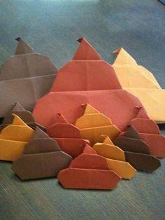 Adivinhe o que é - para divertir crianças Twitterで折り紙の千羽鶴ならぬ千本ウンコを作ると子供達も笑顔になるし無になって余計な事を考えなくてイイよ!wwって呟いたら作り方を教えて!!って事だった…