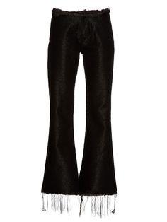 Marques'Almeida Frayed-edge flared jeans