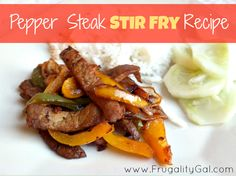 Amazing pepper steak stir fry. Such a quick and easy dinner recipe! Requires very little hands-on time and the steak is super tender.