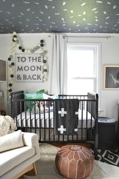 Eclectic Black and White Boy Nursery by Nesting with Grace. Liapela.com