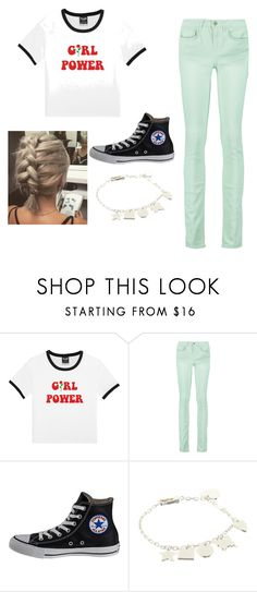 """""""Piper Mclean Casual"""" by chloecadenhead ❤ liked on Polyvore featuring RED Valentino, Converse, Gucci, percyjackson and PiperMcLean"""