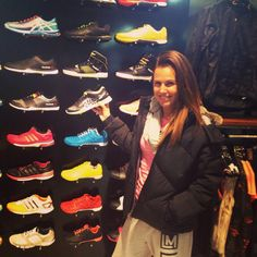 Rachel Newsham and the the wall of shoes! #reeboklove