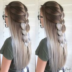Image uploaded by 𝓨𝓪𝓷𝓪 Find images and videos about girl, beautiful and style on We Heart It the app to get lost in what you love - braids Hair Color 2018, Latest Hair Color, Hair 2018, Frontal Hairstyles, Trendy Hairstyles, Fall Hairstyles, Braided Hairstyles, Wedding Hairstyles, Pinterest Hair
