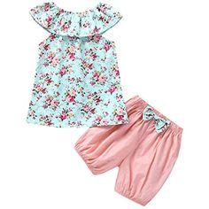 f60b5707609a Completino da Bambino Estate Abbigliamento Neonata Estivo Elegante 0-3 6-9  12 Mesi